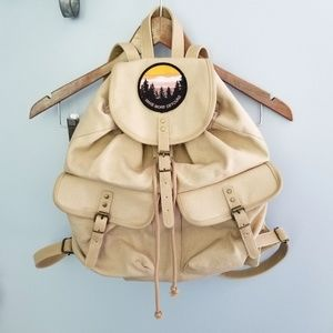 {Mossimo} Tan Detour Patch Backpack